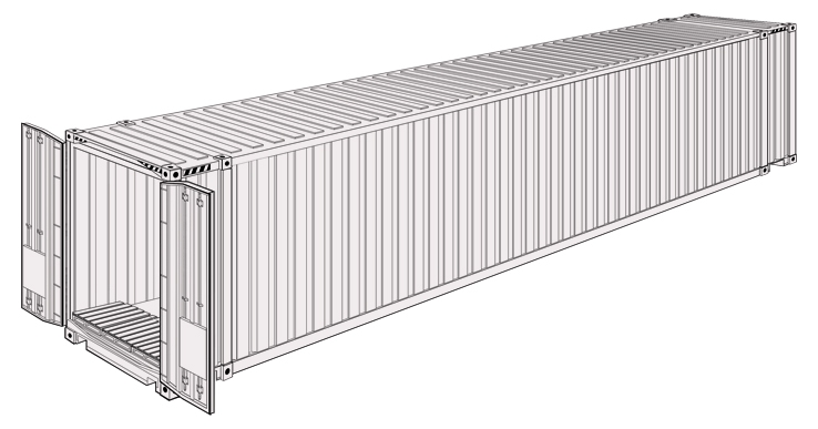 Konteiner Dry Cargo HCPW 45